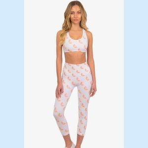 NWT Morgan Stewart Sport Grapefruit Leggings